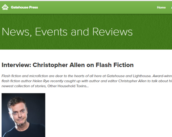 Interview with Christopher Allen for Gatehouse Press