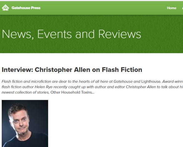 Interview with Christopher Allen for GatehousePress