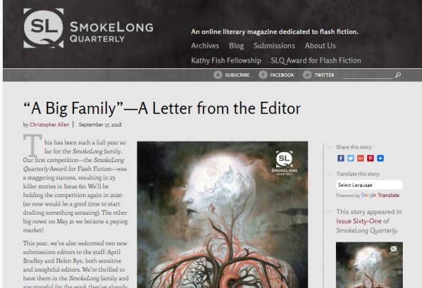 Editing at SmokeLongQuarterly