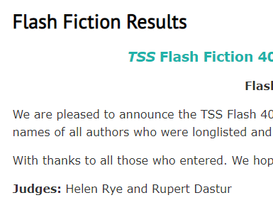 Judging the TSS Flash Fiction 400 Contest