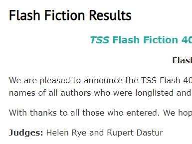 Judging the TSS Flash Fiction 400Contest