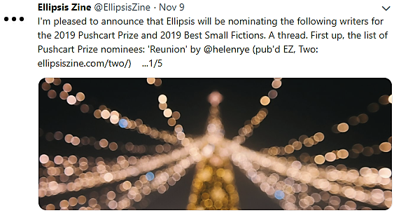 Pushcart Prize Nomination