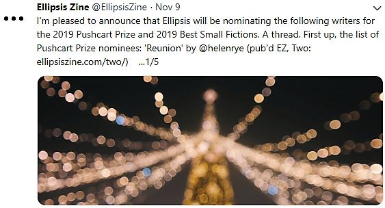 Pushcart Prize Nomination