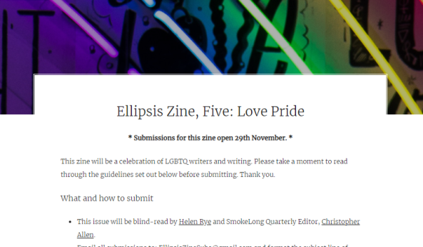 Ellipsis Zine – Love Pride