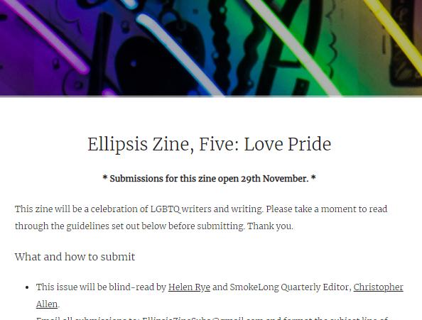 Ellipsis Zine – LovePride